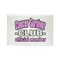 """""""Cancer Survivor Club"""" Rectangle Magnet (10 pack)"""