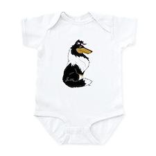 Rough Tricolor Collie Infant Bodysuit