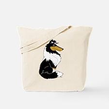 Rough Tricolor Collie Tote Bag