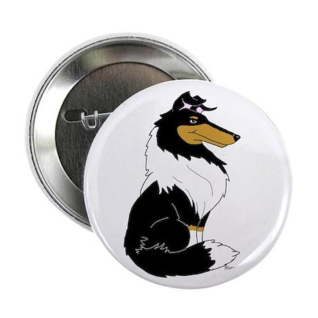 """Rough Tricolor Collie 2.25"""" Button (100 pack)"""