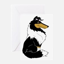 Rough Tricolor Collie Greeting Card