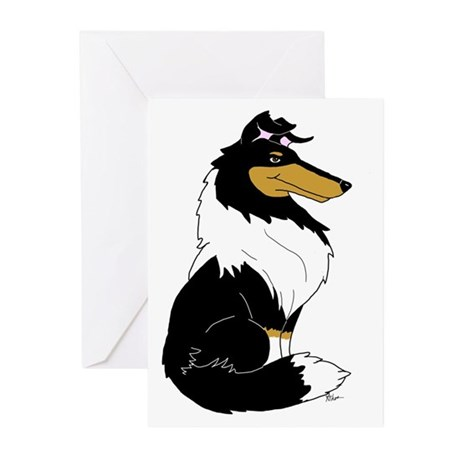 Rough Tricolor Collie Greeting Cards (Pk of 20)