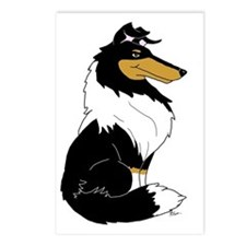 Rough Tricolor Collie Postcards (Package of 8)