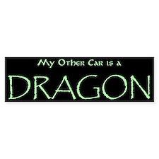 """My Other Car is a Dragon"" Bumper Bumper Sticker"
