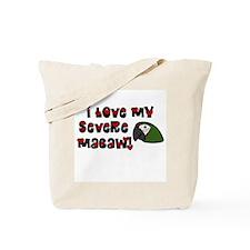 Anime Severe Macaw Tote Bag