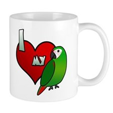 I Love my Severe Macaw Mug (Cartoon)