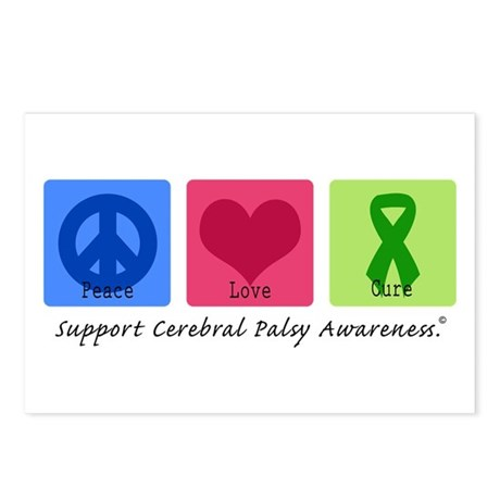 Peace Love Cure CP Postcards (Package of 8)