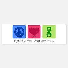 Peace Love Cure CP Bumper Bumper Bumper Sticker