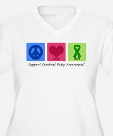 Peace Love Cure CP Women's Plus Size V-Neck Tee