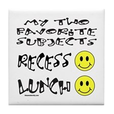 LUNCH AND RECESS Tile Coaster