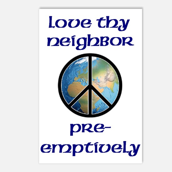 Love Thy Neighbor Pre-emptively Postcards (Package