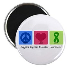 "Peace Love Bipolar 2.25"" Magnet (100 pack)"