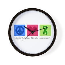 Peace Love Bipolar Wall Clock