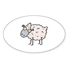 Silly Sheep Oval Decal