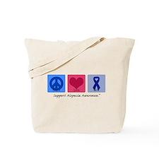 Peace Love Alopecia Tote Bag