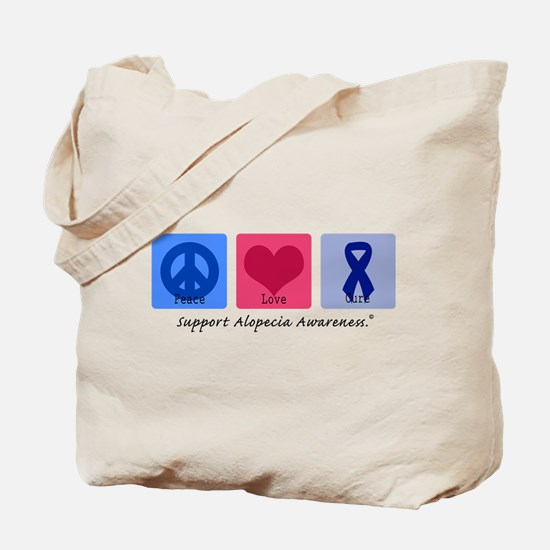 Peace Love Alopecia Tote Bag