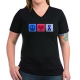 Alopecia awareness Womens V-Neck T-shirts (Dark)