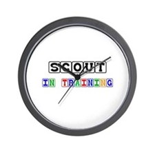 Scout In Training Wall Clock