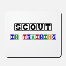 Scout In Training Mousepad