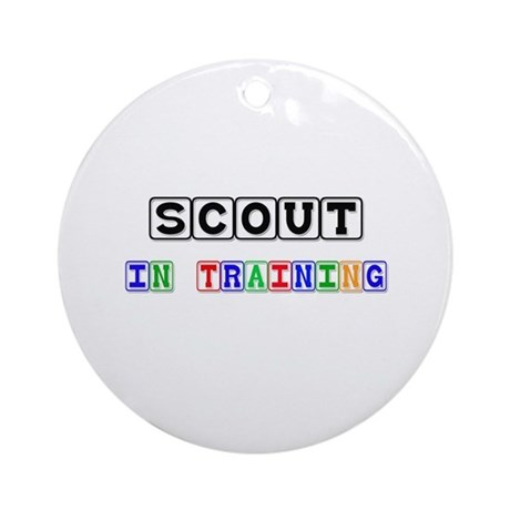 Scout In Training Ornament (Round)