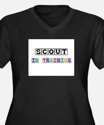 Scout In Training Women's Plus Size V-Neck Dark T-