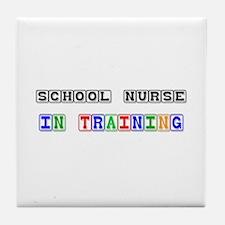 School Nurse In Training Tile Coaster