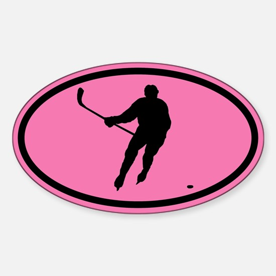WOMEN'S HOCKEY Player Oval Decal