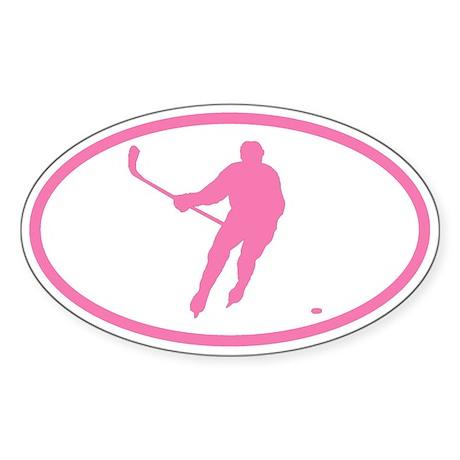 WOMEN'S HOCKEY Player Oval Sticker