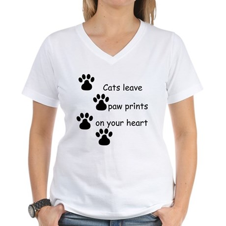 Cat Prints Women's V-Neck T-Shirt