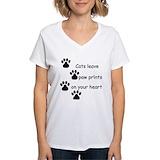 Cat Womens V-Neck T-shirts