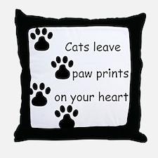 Cat Prints Throw Pillow