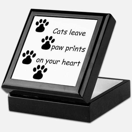 Cat Prints Keepsake Box