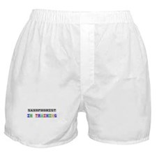 Saxophonist In Training Boxer Shorts