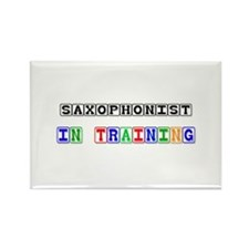 Saxophonist In Training Rectangle Magnet