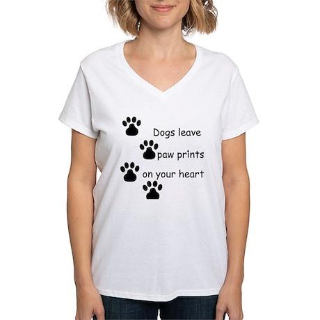 Dog Prints Women's V-Neck T-Shirt