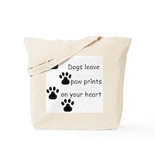Dog Prints Tote Bag
