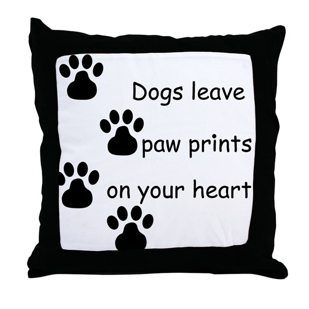 Dog Prints Throw Pillow by teestyles