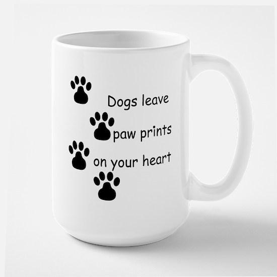 Dog Prints Large Mug