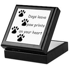 Dog Prints Keepsake Box