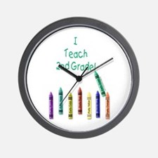 I Teach 2nd Grade! Wall Clock