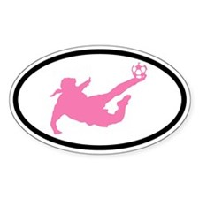 WOMEN'S SOCCER Player Oval Decal