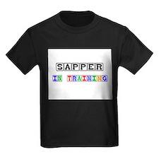 Sapper In Training Kids Dark T-Shirt