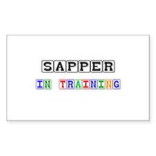 Sapper In Training Rectangle Sticker