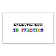 Salesperson In Training Rectangle Sticker