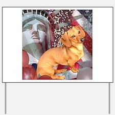 4th of July Dachshund Dog Yard Sign