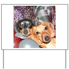 4th of July Dachshund Dogs Yard Sign