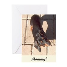 Mothers Day Dachshund Dogs Greeting Cards (Pk of 2