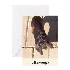 Mothers Day Dachshund Dogs Greeting Card