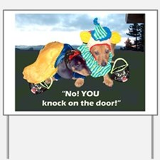 Halloween Dachshund Dog Yard Sign