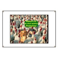Thanksgiving Turkeys Dogs Banner